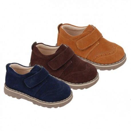 022d834c8af Zapatos niños marrón chocolate modelo velcro baratos