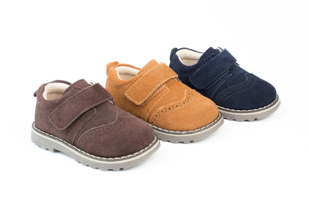 8036a6dc2ce ... Zapatos niño marrón chocolate modelo Velcro (1) ...