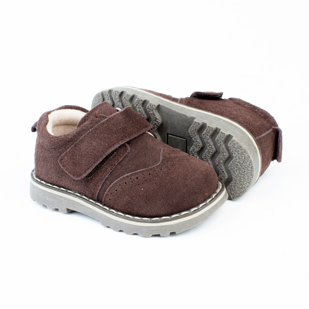 0093b21f0e4 ... Zapatos niño marrón chocolate modelo Velcro (3) ...