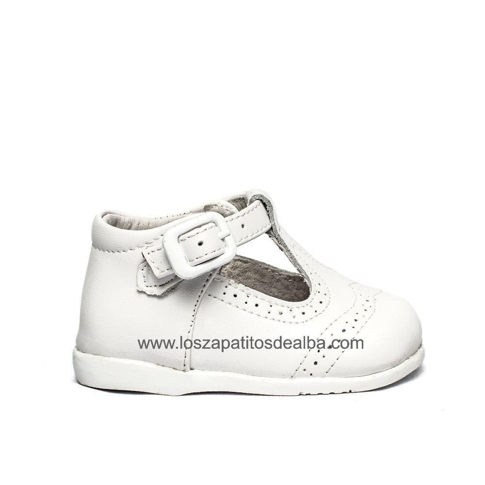 9ece8c7bd Zapatos Pepito Primeros Pasos Bebé Blanco Troquelado Inglés