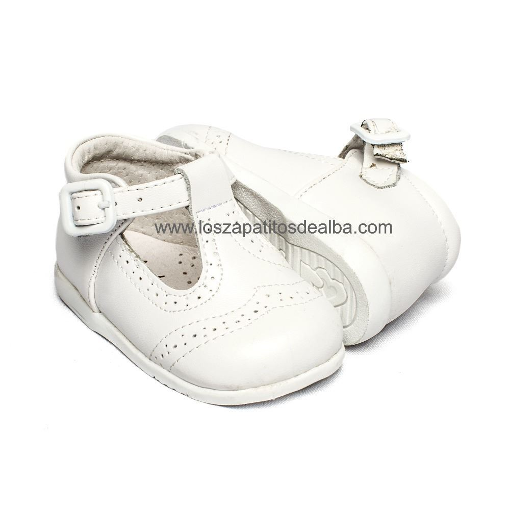 30e14cfb ... Zapatos Pepito Primeros Pasos Bebé Blanco Troquelado Inglés (1) ...