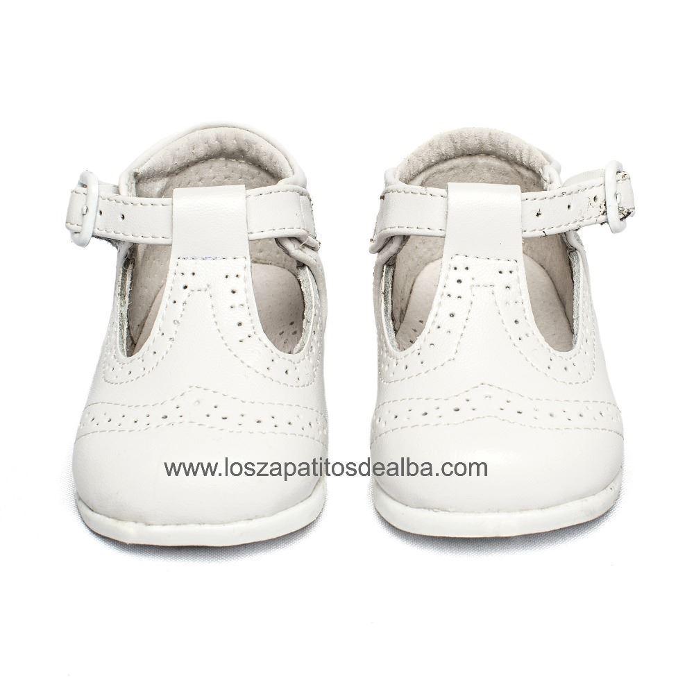 158877ac ... Zapatos Pepito Primeros Pasos Bebé Blanco Troquelado Inglés (2) ...